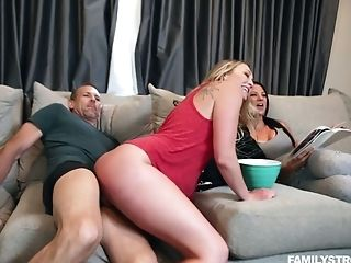 Dude Fucks Bootylicious Stepdaughter Adira Allure In Front Of...