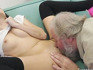Horny Czech Woman Katy Rose Lets Bearded Pickuper Fuck Her Moist Muff