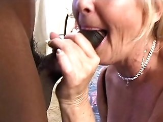 Matures Blonde Ditches Fuck Stick When Black Shaft Comes In Room