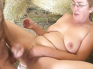 Nasty Farmer Lures Chubby Matures Lady In Glasses And Fucks Her In...