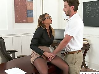 Hot Tutor Brooklyn Chase Providing Hump Lesson To Her Fave Student