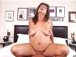 Still Hot Granny With Big Saggy Breasts Does It All In A Point Of...