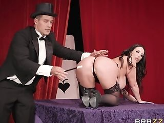 A Magician Penetrates Mummy Angela Milky With His Lengthy Magic Stick