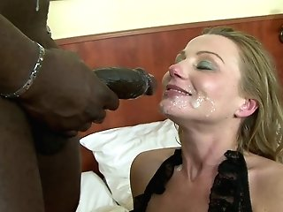 Hot Cougar In Lacy Underwear Gets Thrusted By Black Beef Whistle