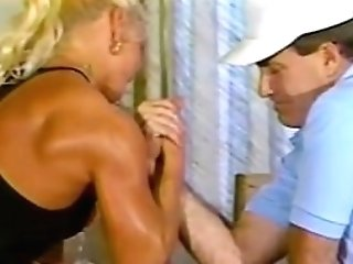 Strong Woman Abasement Armwrestling