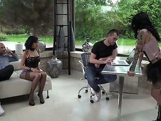 Cocky Dude Fucks Sassy Tattooed Hooker Megan Inky And One Nasty Chick