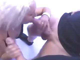 Blonde Cougar Takes Two Fat Dicks