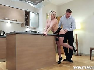Private.com - Big-boobed Victoria Summers Fucks In Stockings