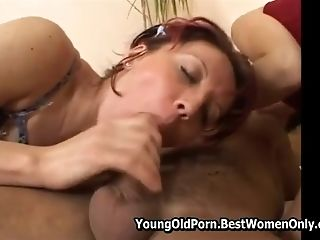 Youthful Guys Have Fuck-a-thon With Hot Matures Chick