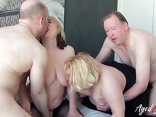 Big-chested Matures Ladies Luving Hard Schlong Of Wild Horny Guys