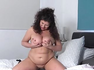 Chubby Brit Matures In Pantyhose