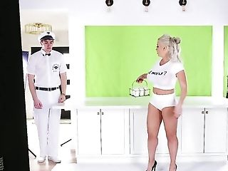 Curvy Blonde Alura Jenson Is Addicted To Milk And Fuck