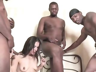 Faith Always Wished To Get Group-fucked By A Group Of Black Guys,...