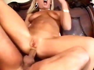 Ass-fuck Double Penetration Threesome For Blonde Mummy