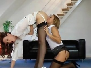 Euro Pussylicking Mummies In Threeway Joy