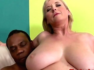 Throating Matures Interracially Analfucked