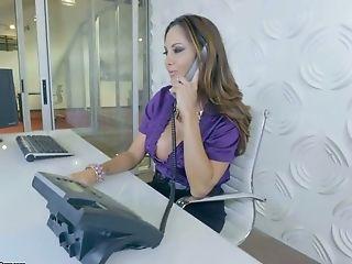 Bitchy Ladyboss Ava Addams Is Testing A Big Dick Of One Fresh Employee