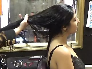 Brushing Bad Woman Lengthy Hair
