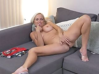 Stunning Towheaded Matures Woman Dani Dare Is Playing With Her...