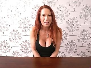 Jaw Pulling Down Crimson Haired Cougar Faye Rampton Shows Off Her...
