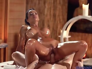 Rubdown Rooms Sexy Brunettes Hot Taut Slick Suntanned Figure Fucked