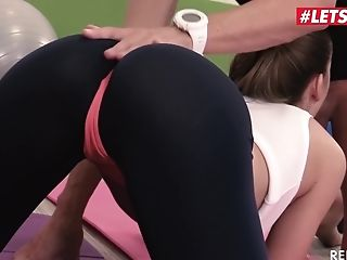 Letsdoeit - Alexis Crystal Is Seduced And Fucked Hard By Gym...
