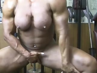 Lisa Cross Pumps Her Fat Muscles And Her Engorged Love Button Just...