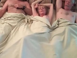 Threesome With Sexy Unexperienced Granny And Swapper Tart