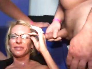 Slender Cougar Crazy Group Sex Porno Movie