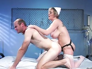 Big-titted Matures Nurse Fucked Patient With Strap Dildo