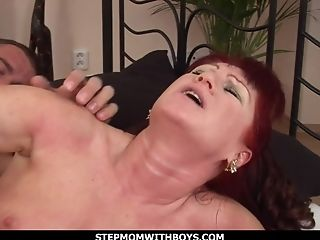 Sandy-haired Matures Fucking Her Friend's Youthful Coc