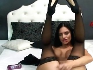 Suntanned Huge-chested Webcam Woman Plays With Her Delicious Fuckbox
