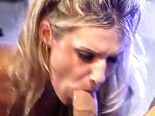 Lusty Blonde Deep Throats A Thick Fuck-stick And Loves It