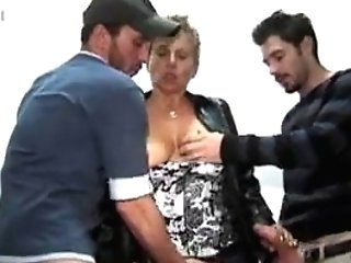 French Matures Woman With Two Youthful Guys