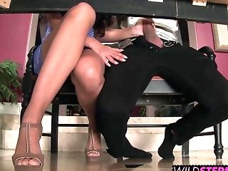 Mercedes Carrera Shows Her Step Daughter-in-law How To Fuck Her Bf