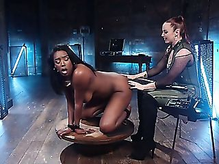 Tied Up Black Sweetie With Yam-sized Boobies Lisa Tiffian Gets Twat...
