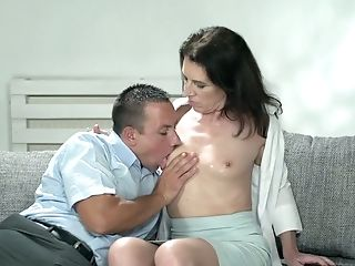 Youthful Student Fucks Sexy Granny Viol And Cums In Her Mouth