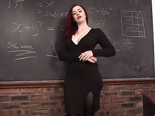 Crimson Haired Instructor Jaye Rose Masturbates Her Fuckbox And...
