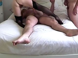 Hubby Helps His Wifey And Bull