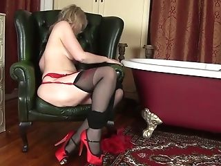 Matures Blonde In Crimson Boots Emma Turner Is Touching Humid Bald...