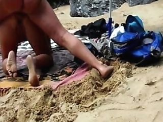 French Whore Wifey Lisa Fucked Rear End Style At The Beach