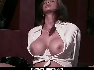 Hot Cougar Gets Fucked Rectally With Wand On Pu