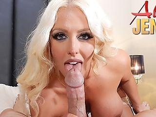 Total-jugged Platinum-blonde Hair Stunner Porno Stunner Alura...