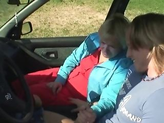 70 Years Big-boobed Blonde Granny Picked Up And Fucked...