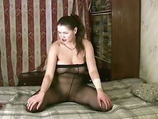 This Honey Has A Pantyhose Addiction And She Loves Going Solo On...