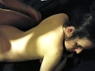Man Fuck His Wifes Raw Squirty Fuckbox Untill She Eat His Jism Flow!