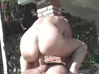 Dirty Old Lady Fucks By Poolside