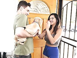 Huge-titted Dark Haired Gal Called Gabriela Lopez Treats Dude With...