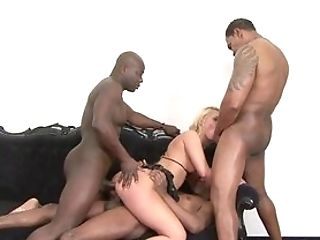 Cougar Gets Booty-fucked In Gang-fuck By Numerous Counterparts