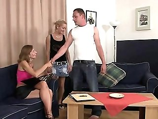 Daughter-in-law Sees Hubby Fucking Her Old Mom